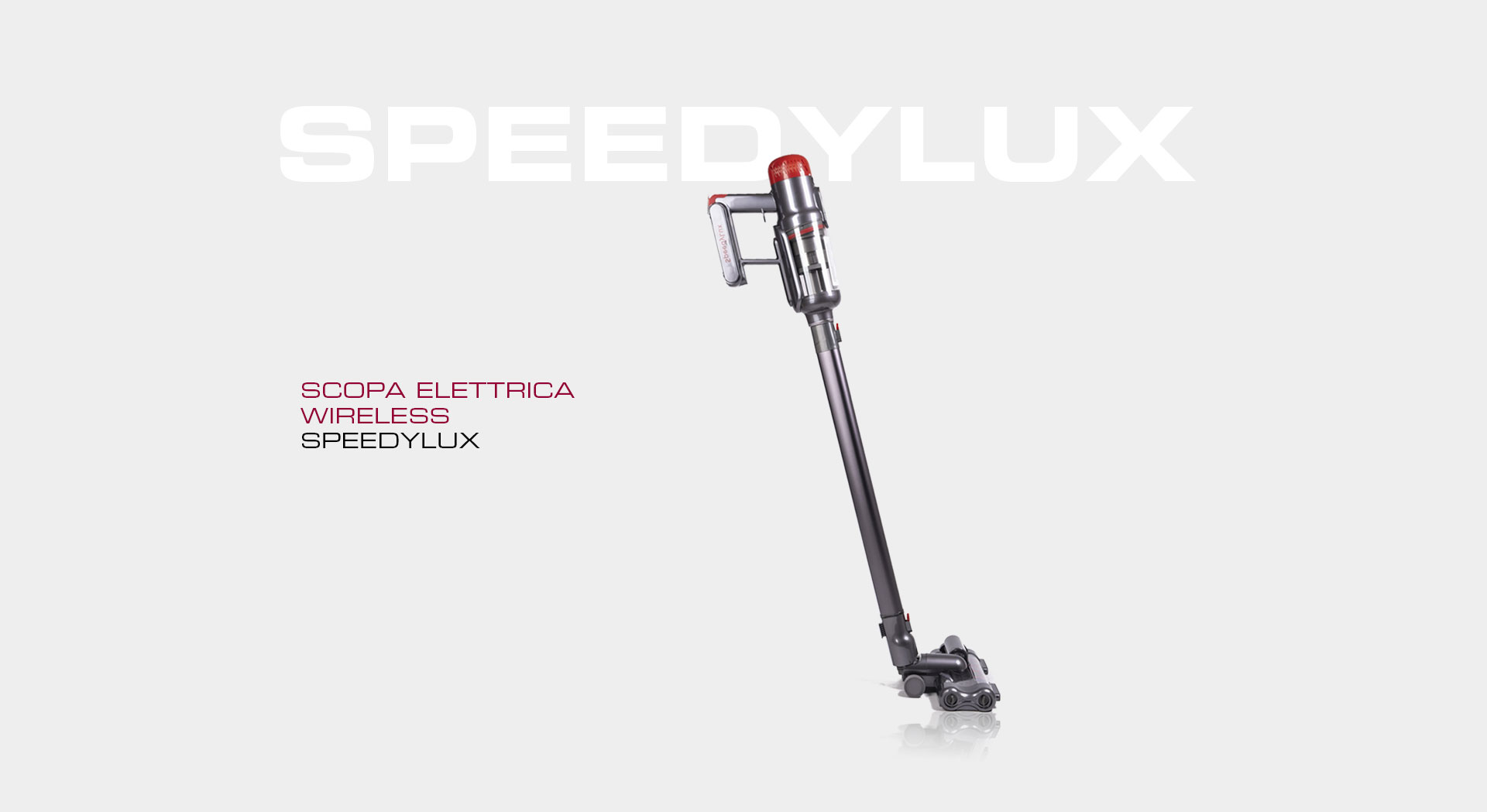 speedylux, scopa, elettrica, wireless, ricarica, design